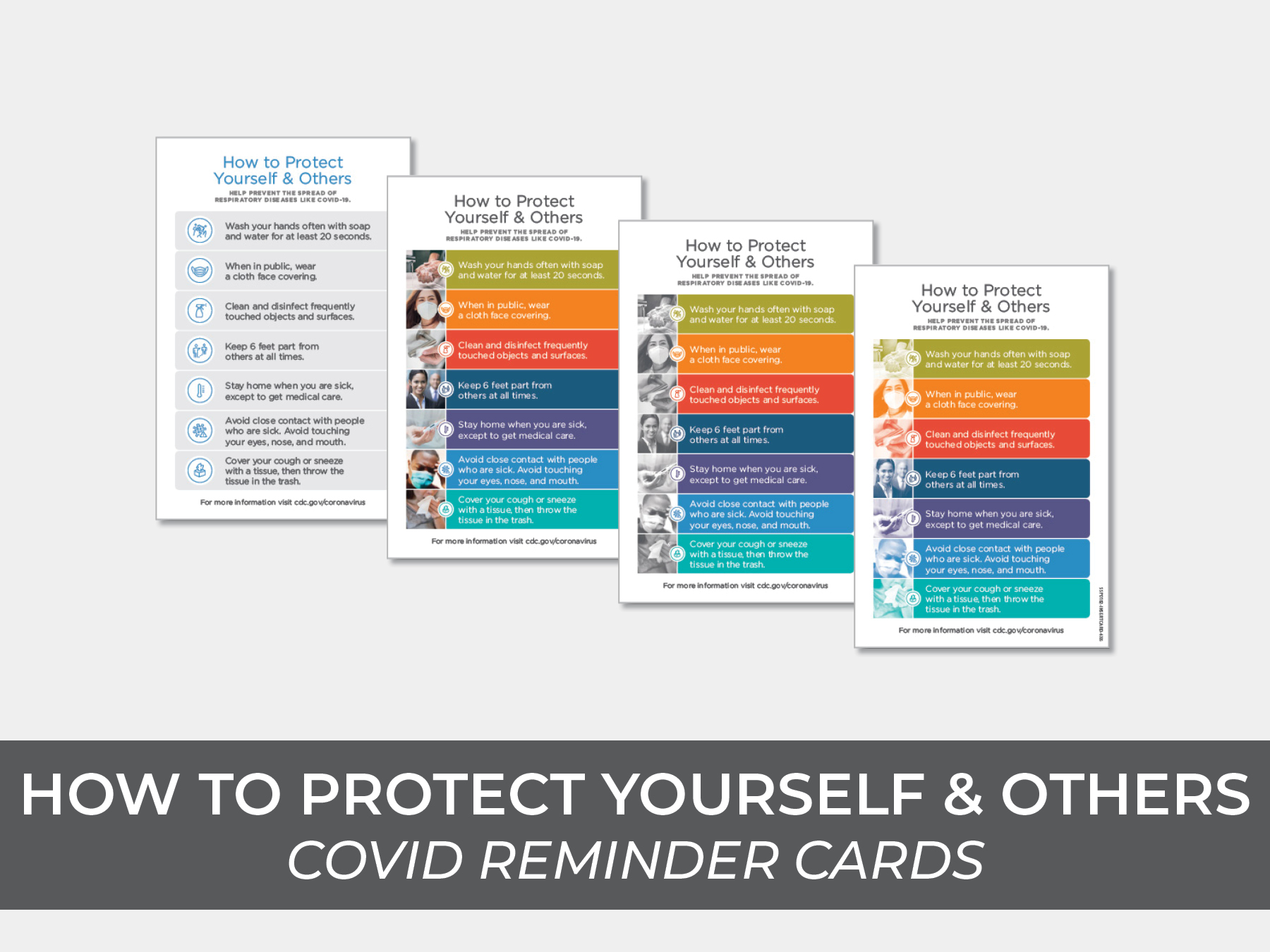 How to Protect Others Reminder Cards
