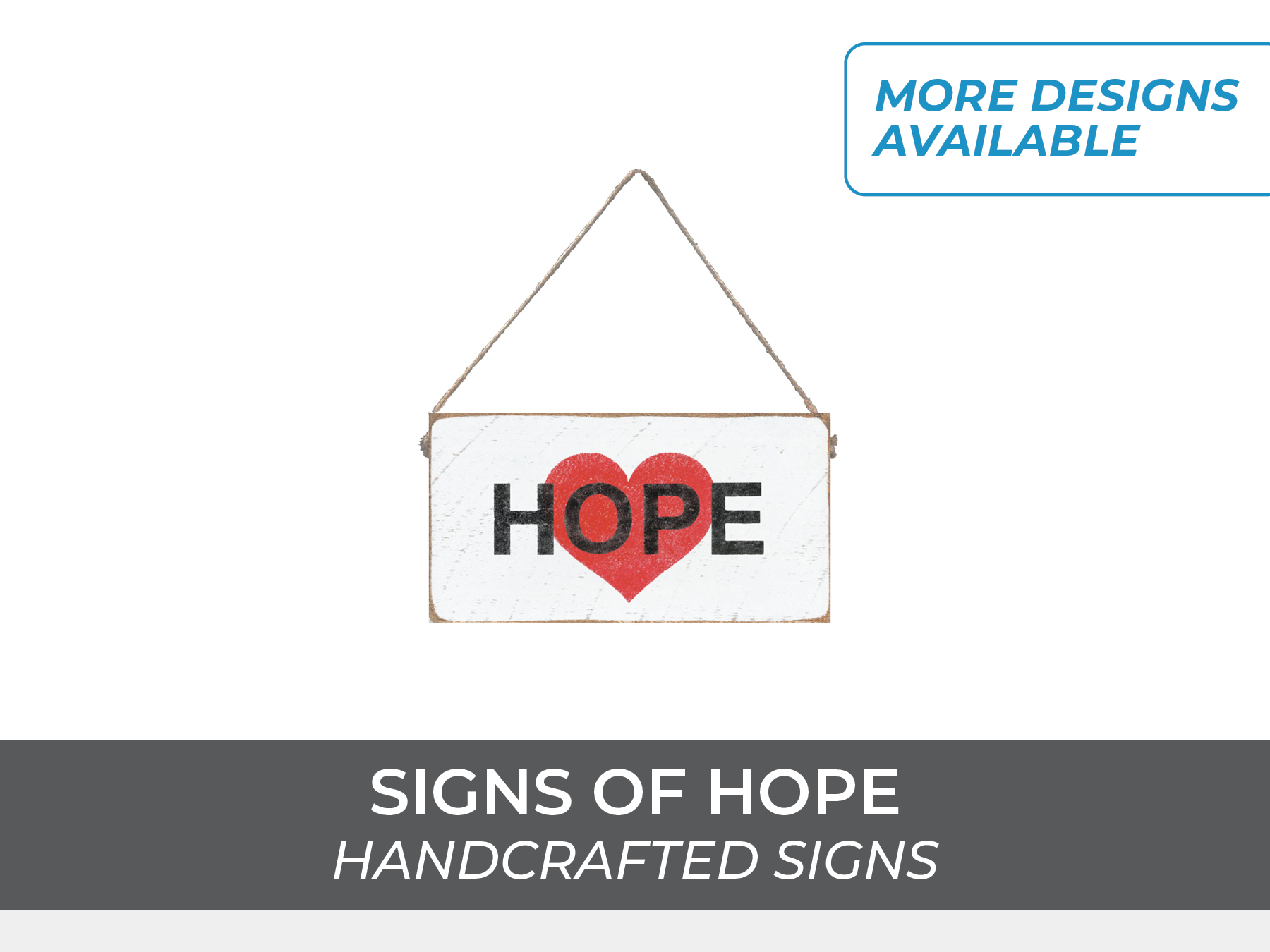 Signs of hope wooden feel good signs,