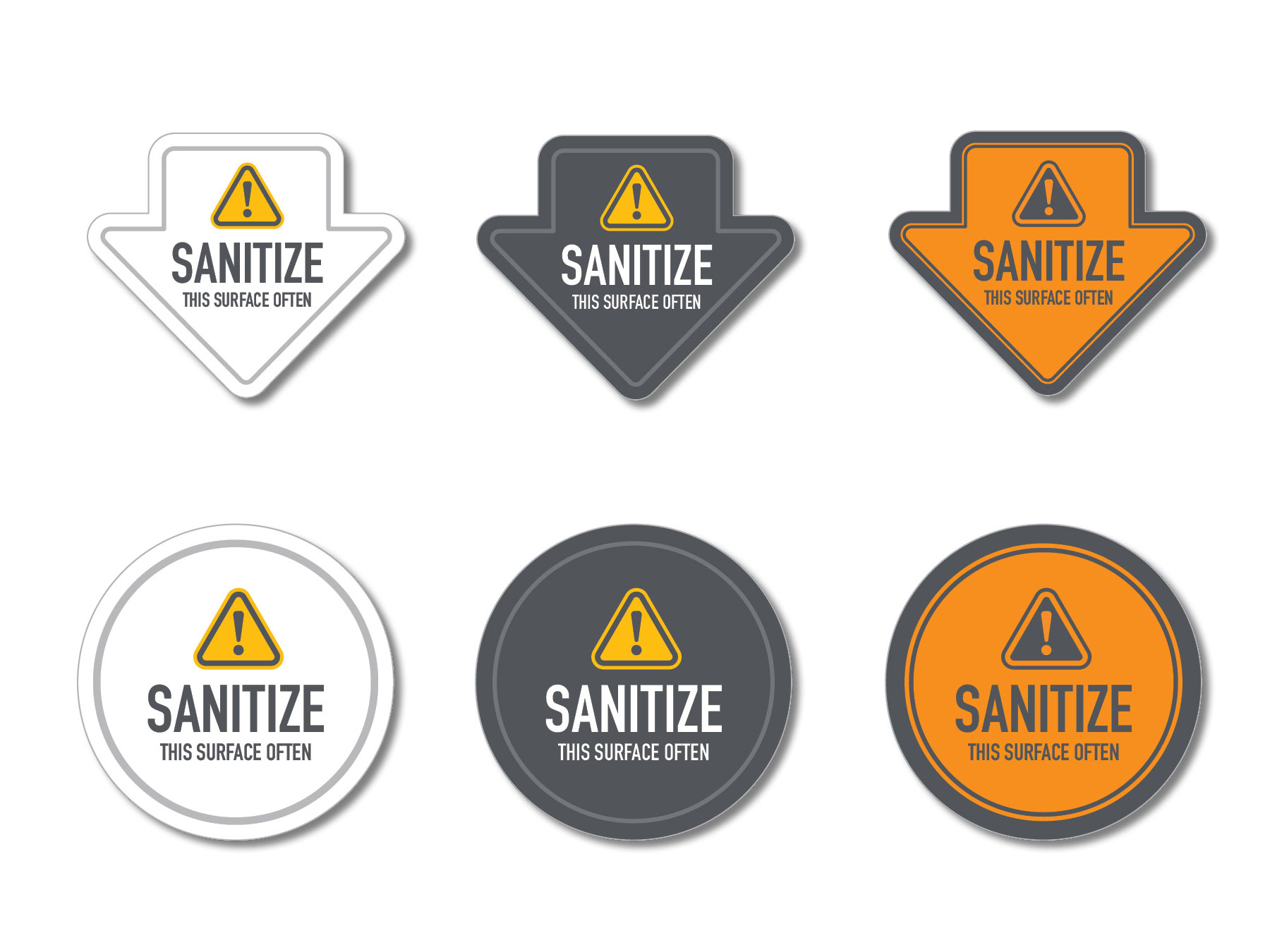 Sanitize this surface stickers, indoor adhesive stickers